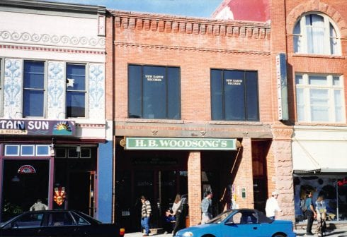 New Earth Records offices on Pearl Street in Boulder. 1998