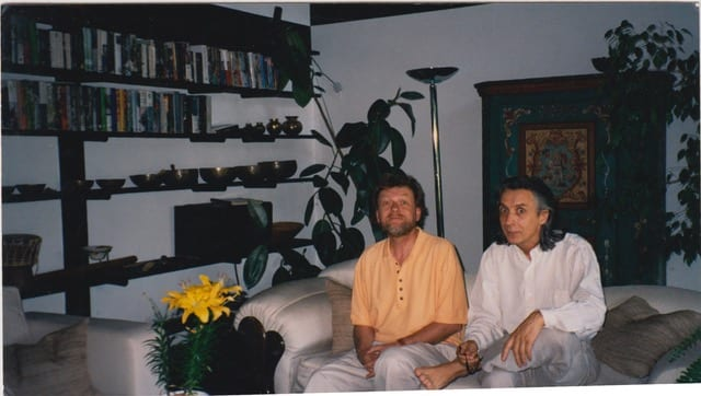 Al Gromer Khan and Bhikkhu at the Ammersee House Munich 1995