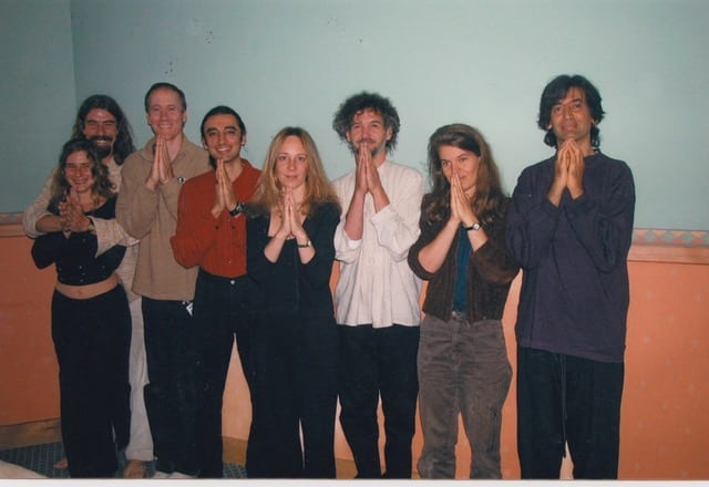 The Celtic Ragas Band just before performing at Paul McCartney's wedding in Ireland 2002