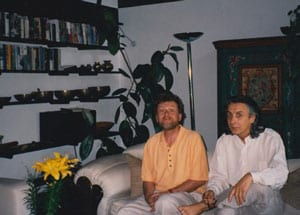 Al Gromer Khan and Bhikkhu at the Ammersee House Munich 1995