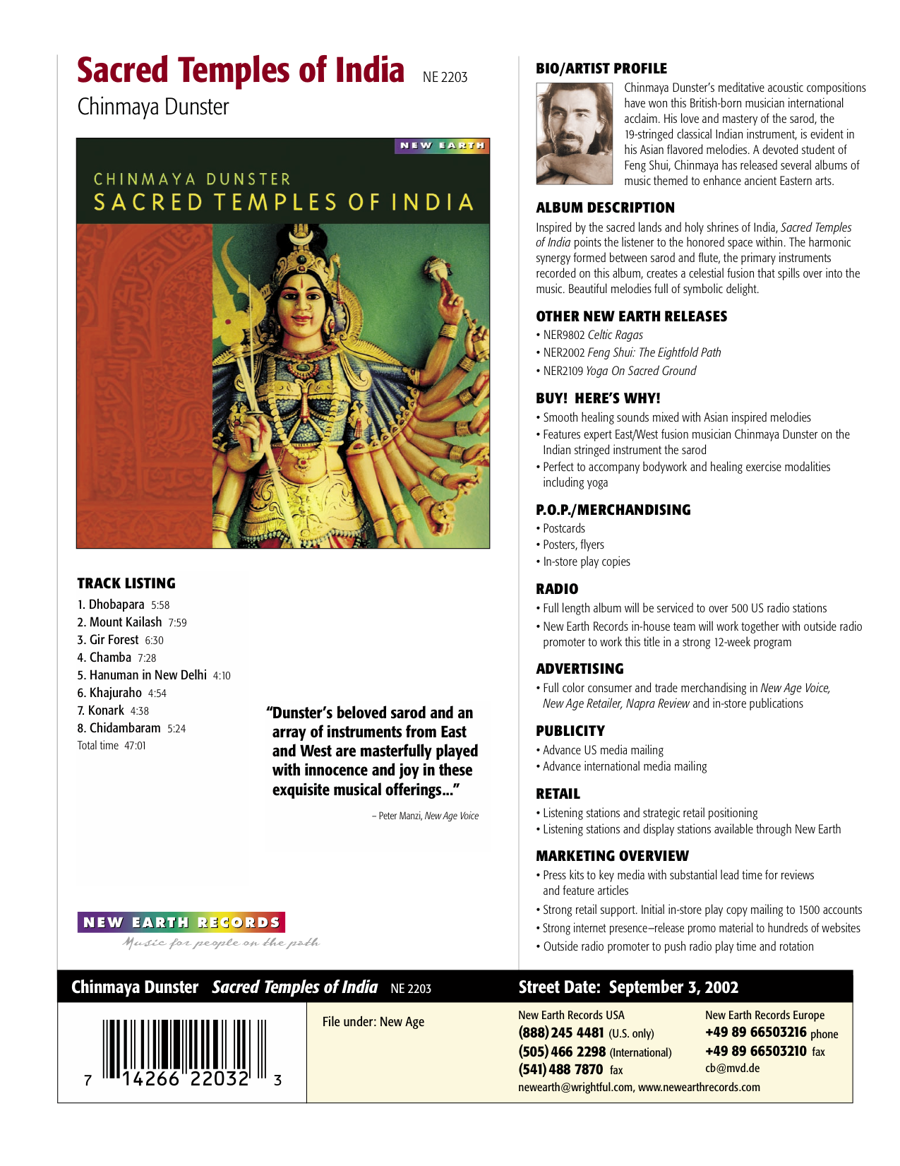 Sacred Temples of India - New Earth Records